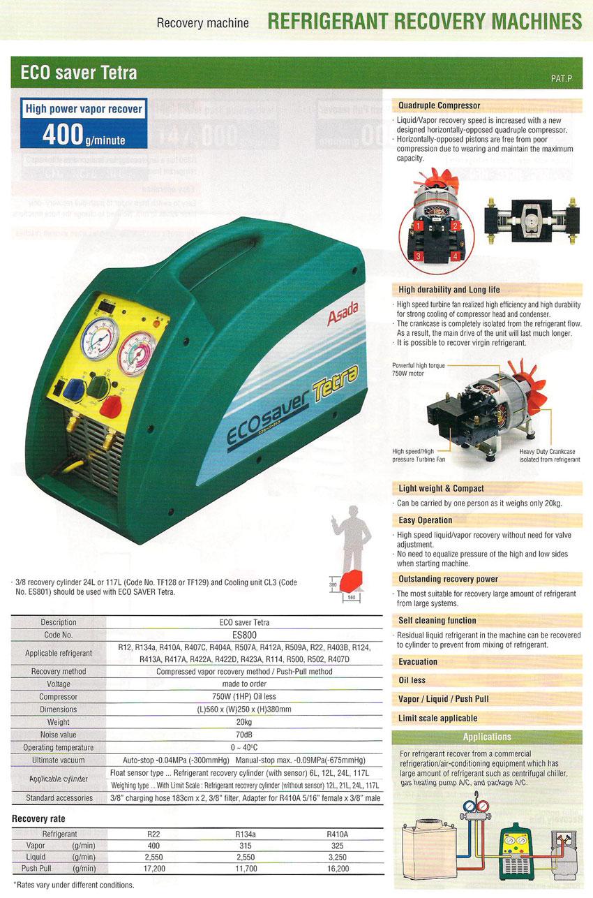 ASADA-Refrigerant-Recover-ECO-saver-Tetra