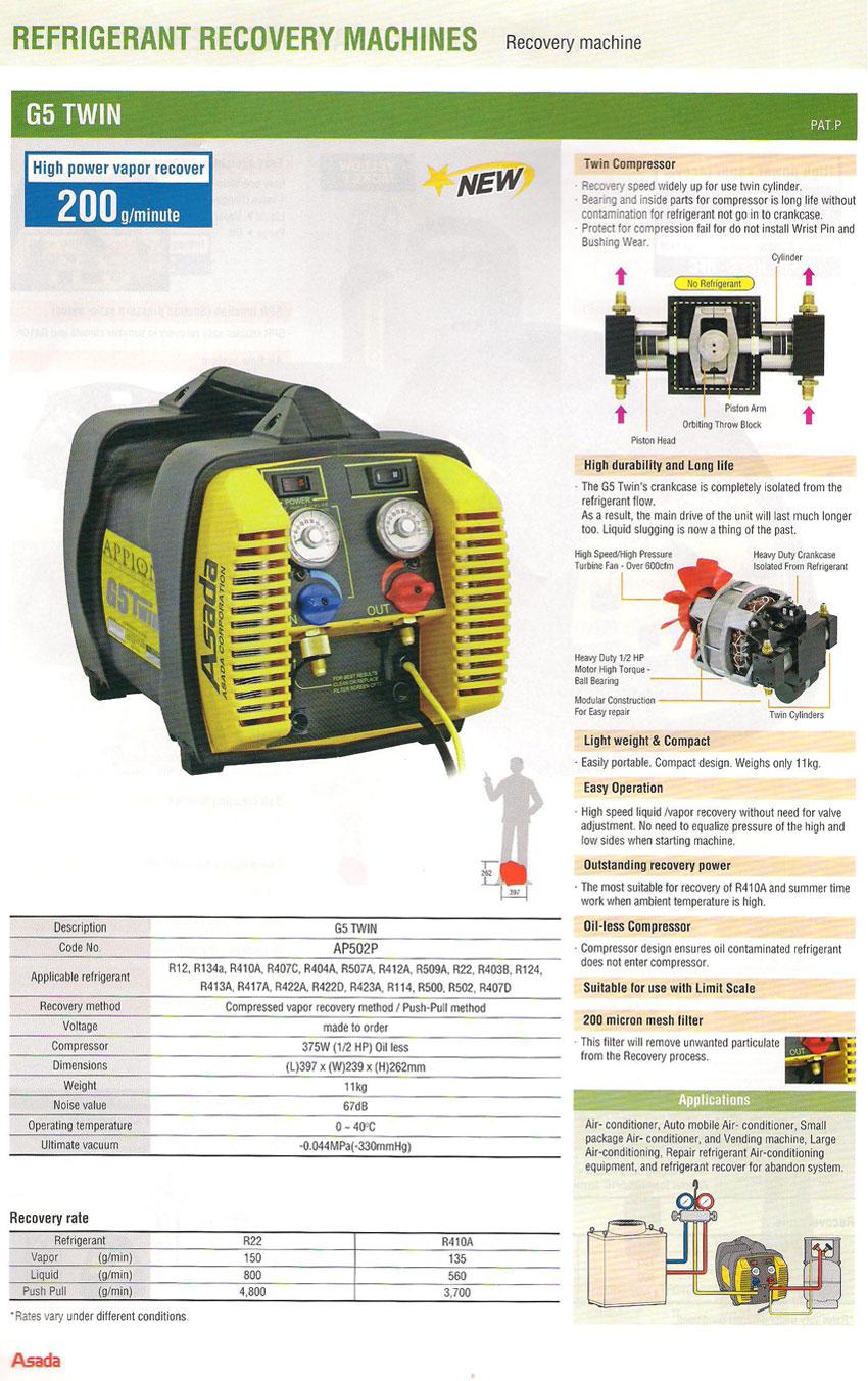 ASADA-Refrigerant-Recovery-G5-Twin