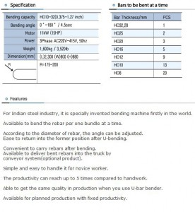 TYU-HD32A Specs