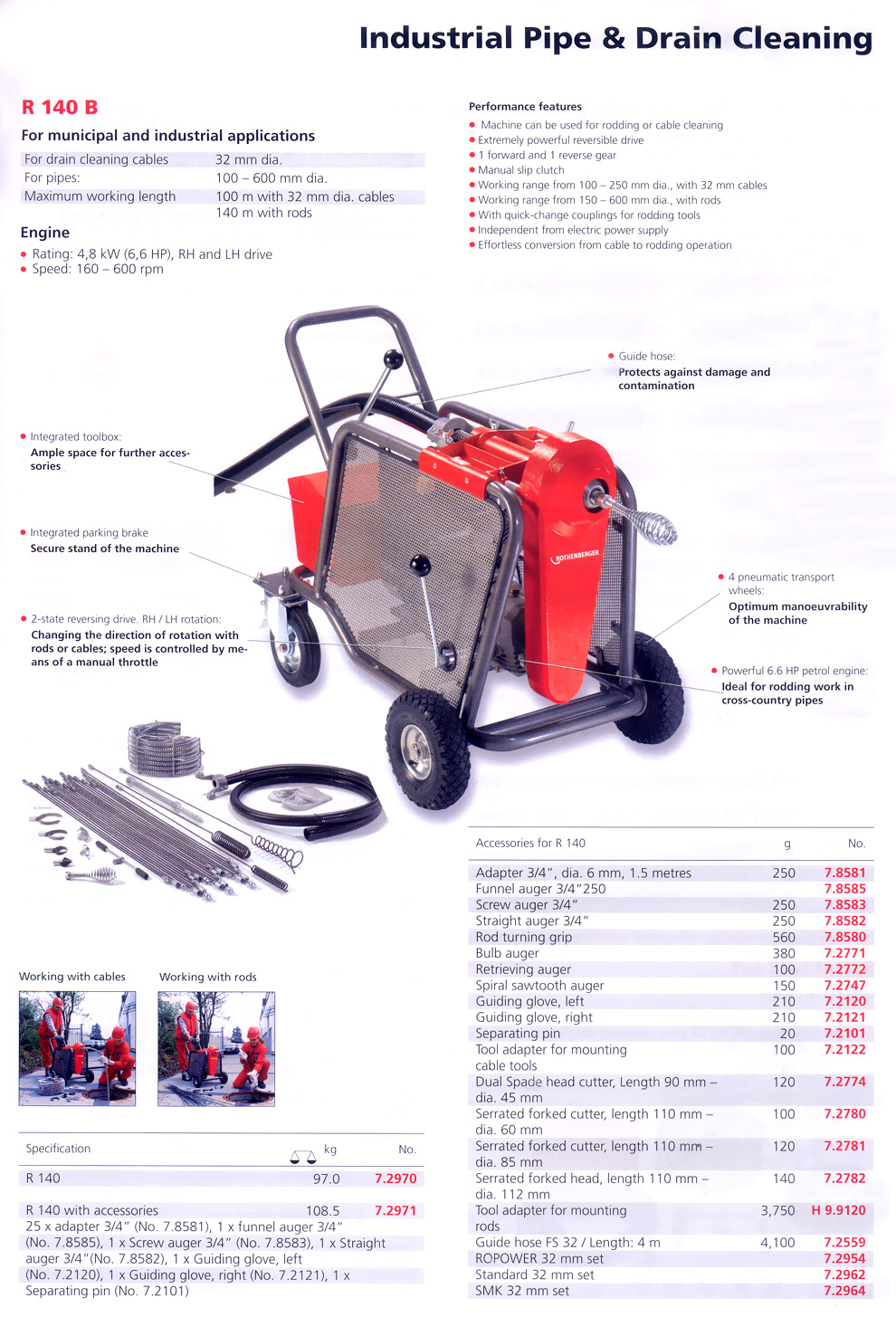 Industrial Pipe and Drain Cleaning Machines